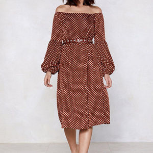 Like new: Swing In Our Direction Polka Dot Dress
